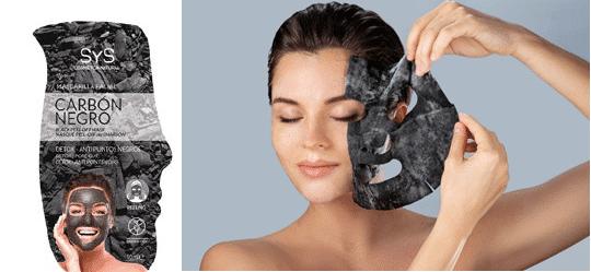 Mascarilla Facial SYS Carbón Negro